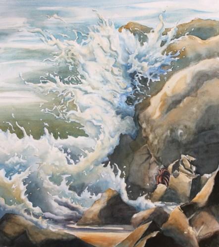 6. Waves Crash upon the Rocks